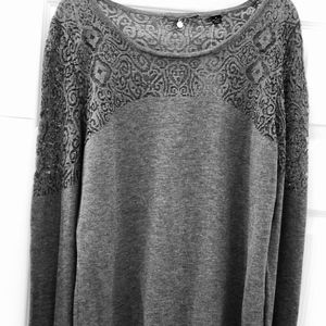 Gray pullover sweater by Anthropologie
